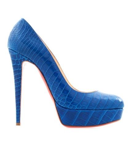 Синие туфли из кожи крокодила Bianca 140.Цена: 400 500руб.