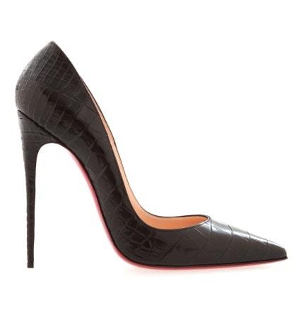 Черные туфли из кожи крокодила So Kate 120. Цена: 325 000руб.(Магазин Aizel)